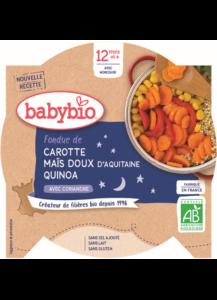 příkrm mrkev a sladká kukuřice s quinoa