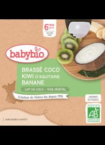 Svačinka s kokosovým mlékem - kiwi a banán