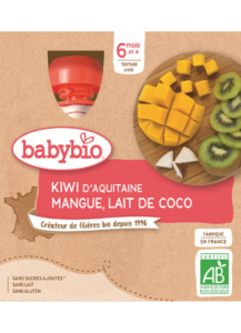 Ovocný příkrm kiwi mango kokos