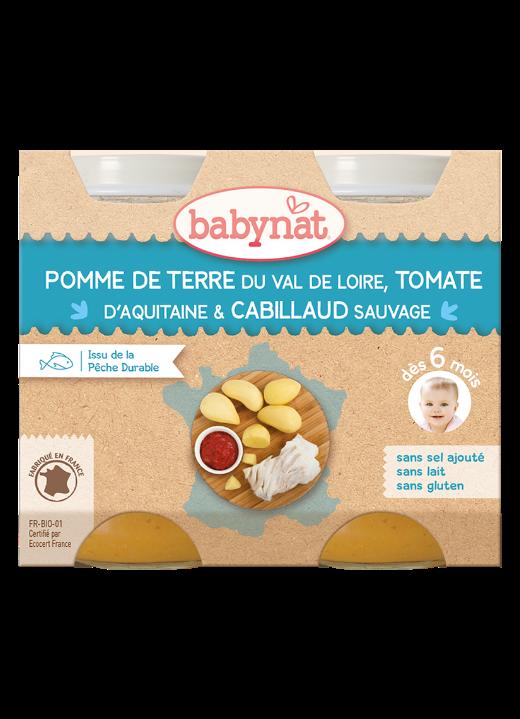 Denní menu příkrm brambory s rajčaty a treskou