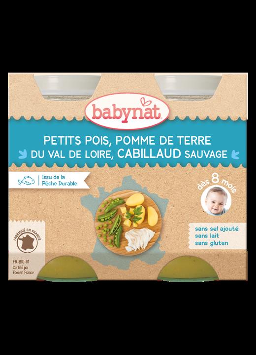 Denní menu příkrm hrášek a brambory s treskou