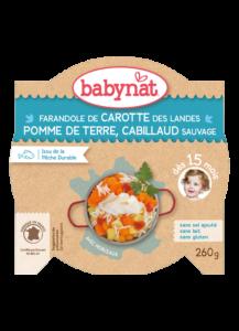 Denní menu příkrm mrkev a brambory s treskou