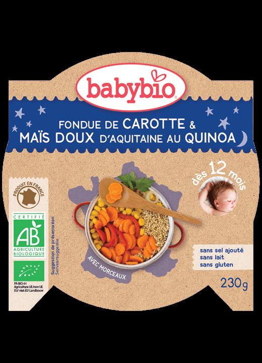 Večerní menu příkrm mrkev a sladká kukuřice s quinoa