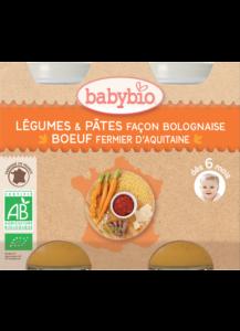 Denní menu příkrm zelenina s těstovinami na boloňský způsob s farmářským hovězím masem