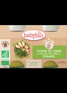 Zeleninový příkrm brambory se špenátem