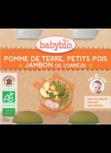 Denní menu příkrm brambory a hrášek se šunkou