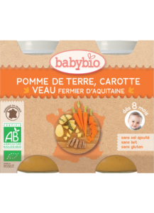 Denní menu příkrm brambory a mrkev s telecím masem