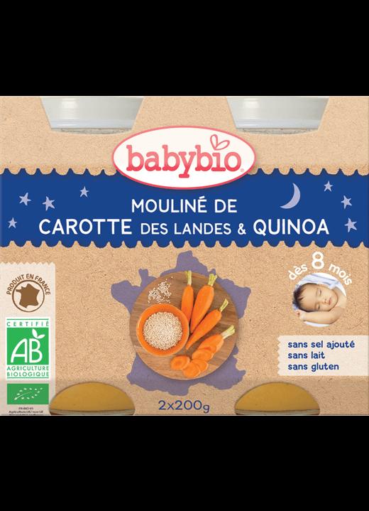 Večerní menu příkrm mrkvové mouliné s quinoa