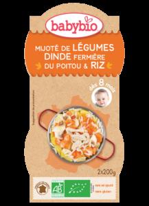 Denní menu příkrm zelenina s krůtím masem a rýží