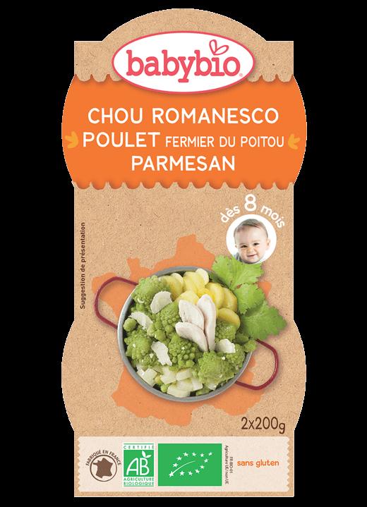 Denní menu příkrm romanesco s farmářským kuřetem a parmezánem
