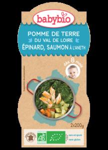 Denní menu příkrm brambory a špenát s lososem a rýží