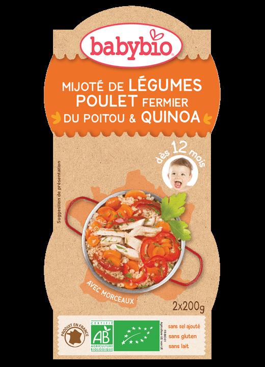 Denní menu příkrm zelenina s kuřetem a quinoa
