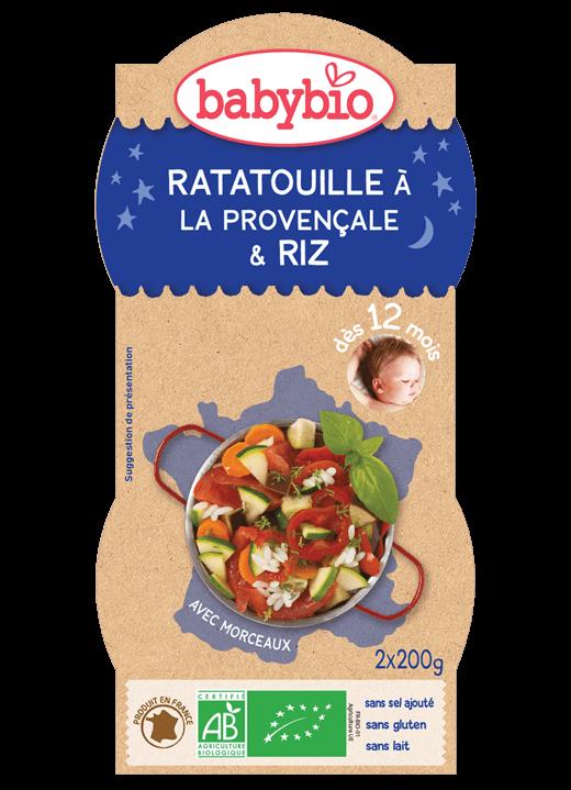Večerní menu příkrm ratatouille s rýží