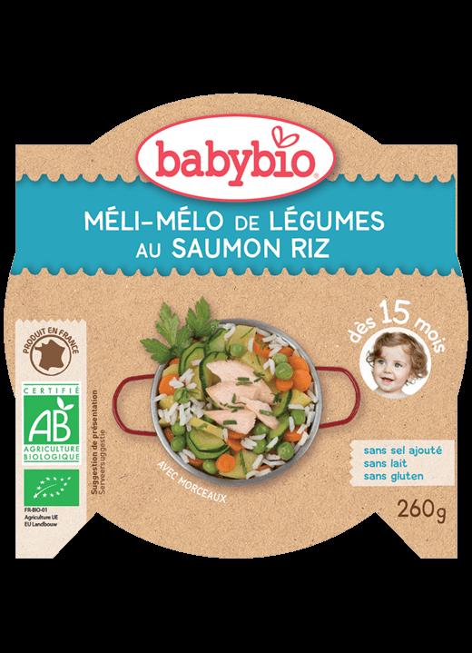 Denní menu příkrm zelenina s lososem a rýží