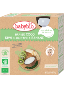 Svačinka s kokosovým mlékem – kiwi a banán