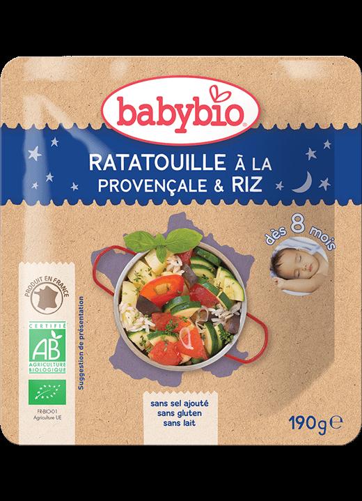 Večerní menu příkrm ratatouille po provensálsku s rýží