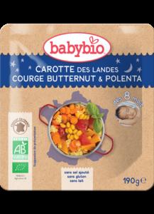 Večerní menu příkrm mrkev s máslovou dýní a polentou