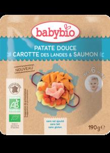 Denní menu příkrm sladké brambory s mrkví a lososem