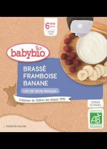 Mléčná svačinka malina banán
