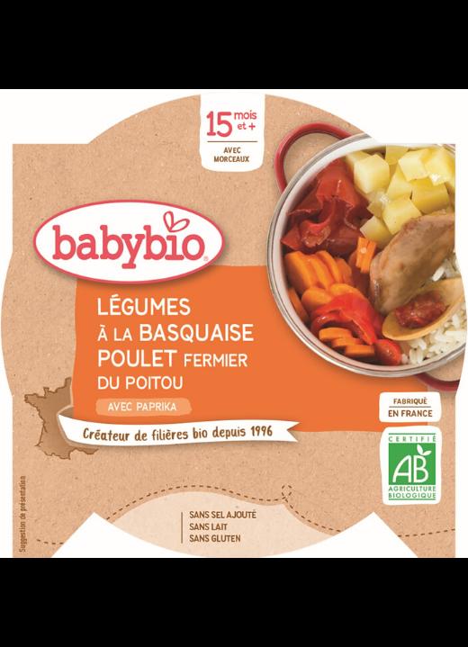 zelenina s baskickým kuřetem a rýží