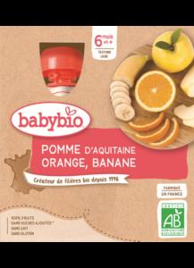 Ovocný příkrm jablko pomeranč banán
