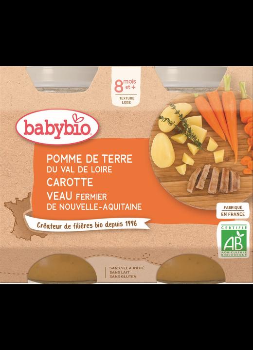 příkrm brambory a mrkev s telecím masem