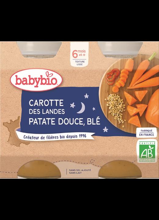 příkrm mrkev, sladké brambory a pšenice