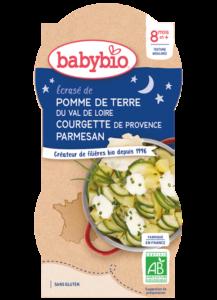 příkrm brambory s cuketou, crème fraiche