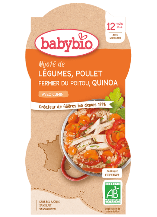 příkrm zelenina s kuřetem a quinoa
