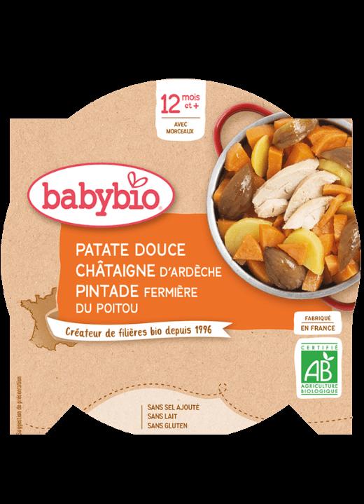 příkrm sladké brambory s kaštanovým pyré